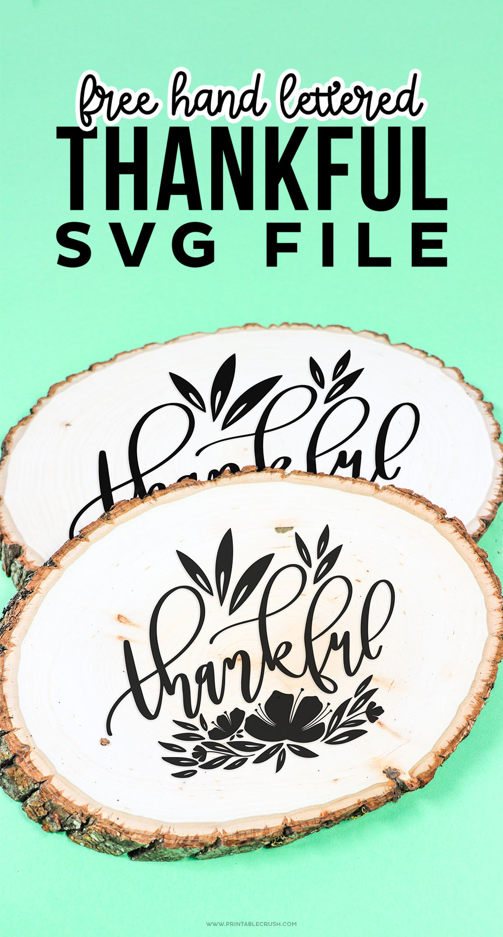 Thankful Wood Sign - Thanksgiving SVG Files - Printable Crush