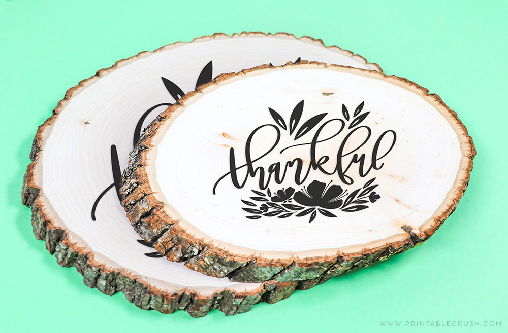 Thanksgiving Wood Sign Free  SVG File - Printable Crush