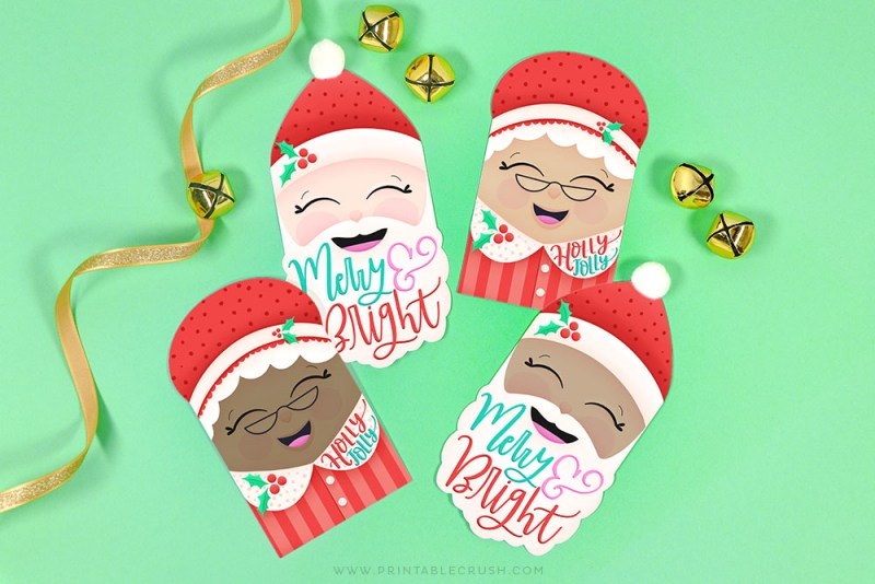 Free Christmas Gift Tags – Santa and Mrs. Claus