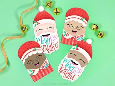 Free Santa and Mrs Claus Printable Christmas Gift Tags - Printable Crush