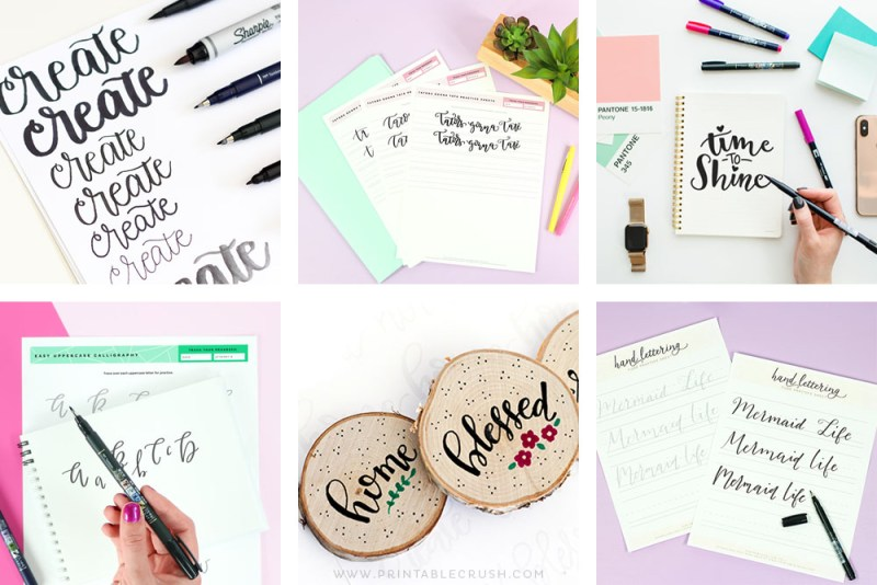 The Best Calligraphy Tutorials and Worksheets