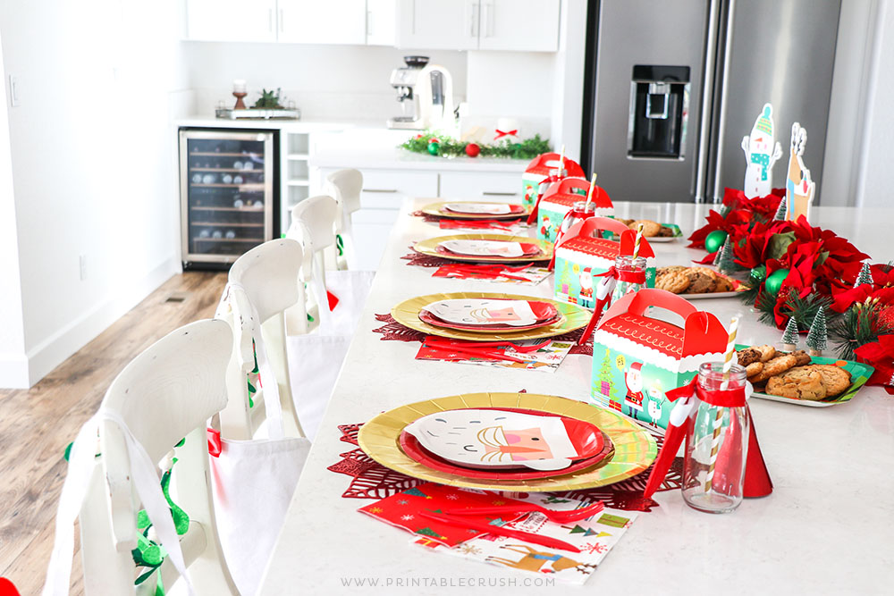 Santa Christmas Party - Christmas Home Decor - Christmas Decor - Kids Christmas Party
