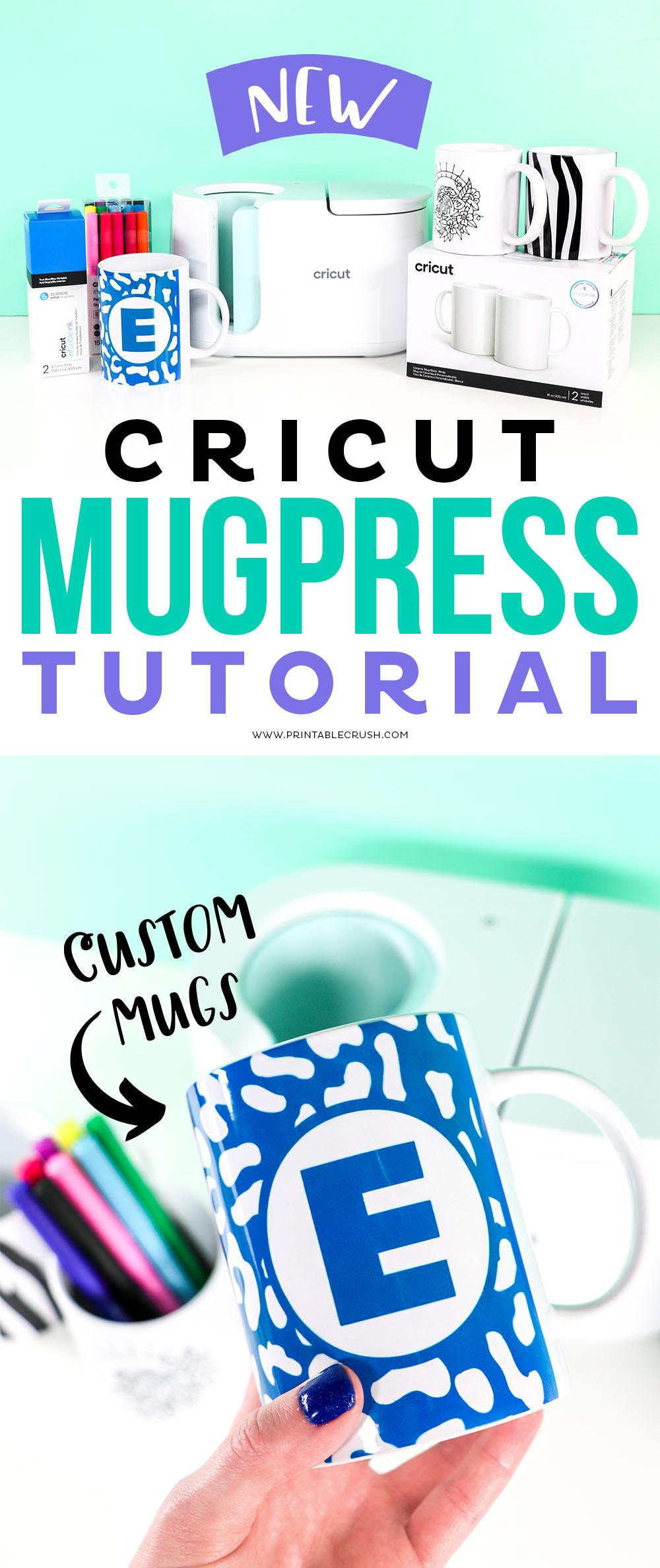 Cricut MugPress Tutorial - Use Infusible Ink Sheets to make amazing animal print DIY Mugs - Printable Crush via @printablecrush