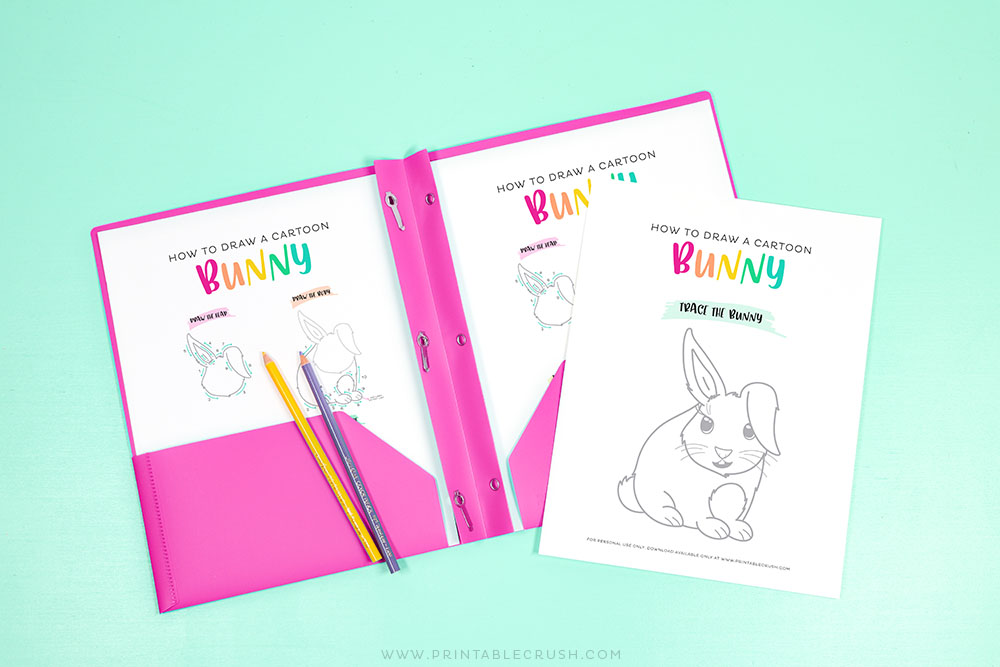 Learn to Draw a Cartoon Easter Bunny with this Free Printable