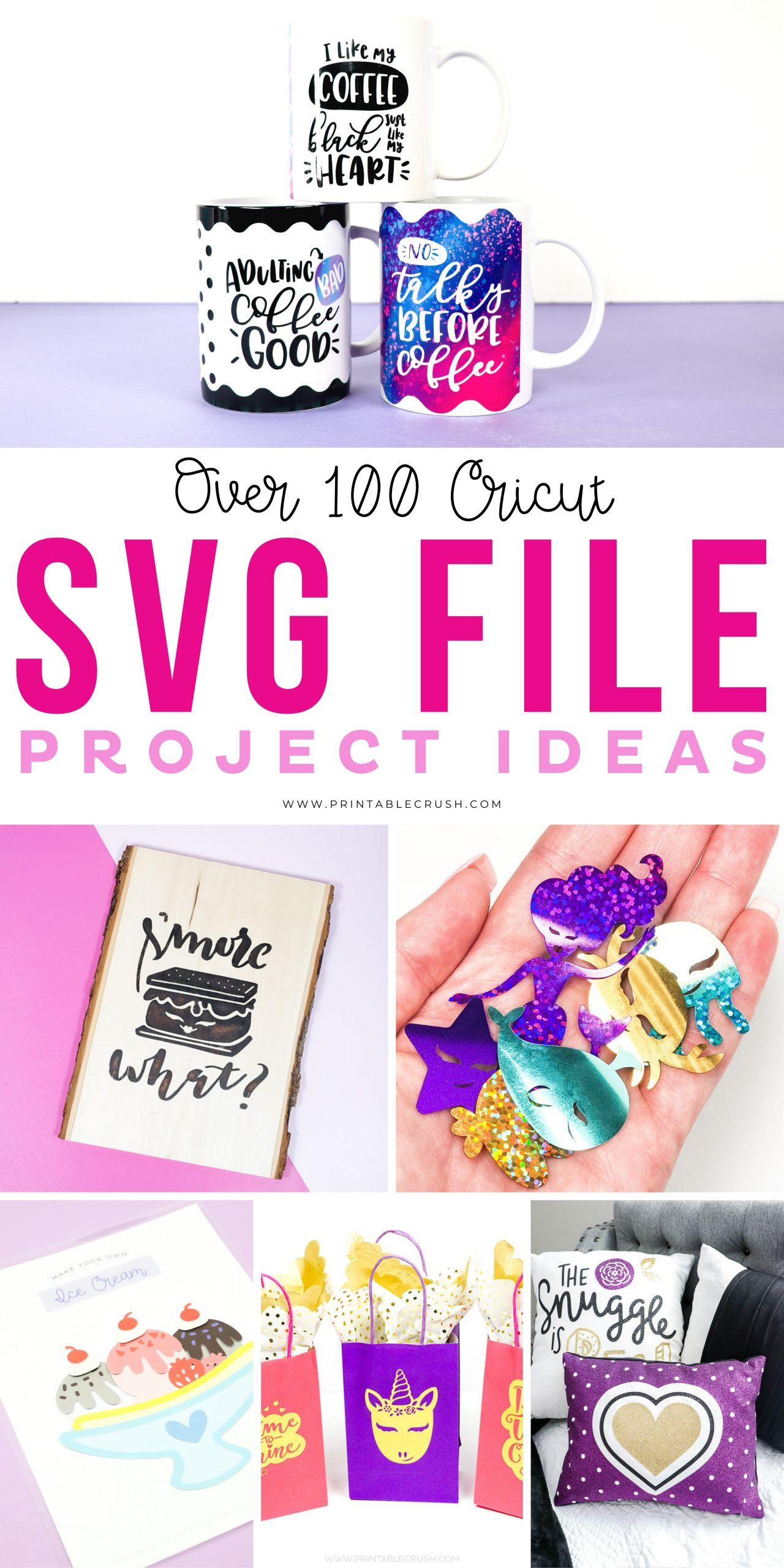 Over 100 Cricut SVG File Project Ideas - Ideas for Cricut Machine - Holiday Cricut Projects - Printable Crush via @printablecrush