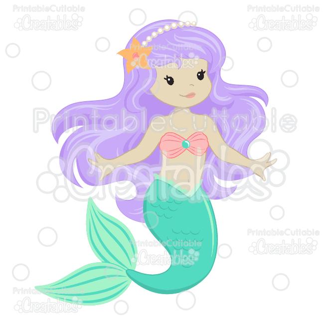 Download Cute Mermaid SVG Embellishment Set