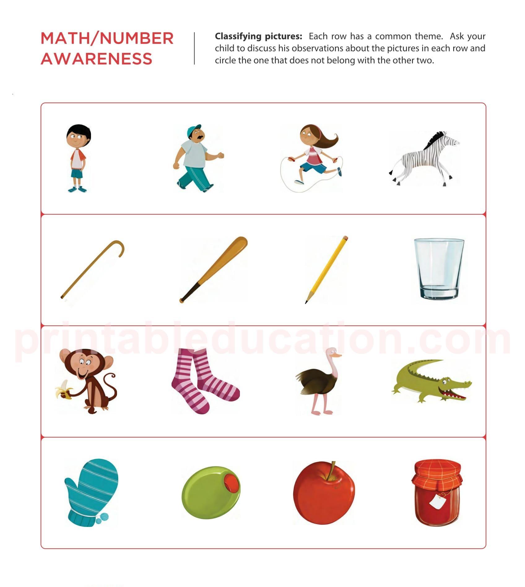 Kindergarten And Nursery Kids Worksheets