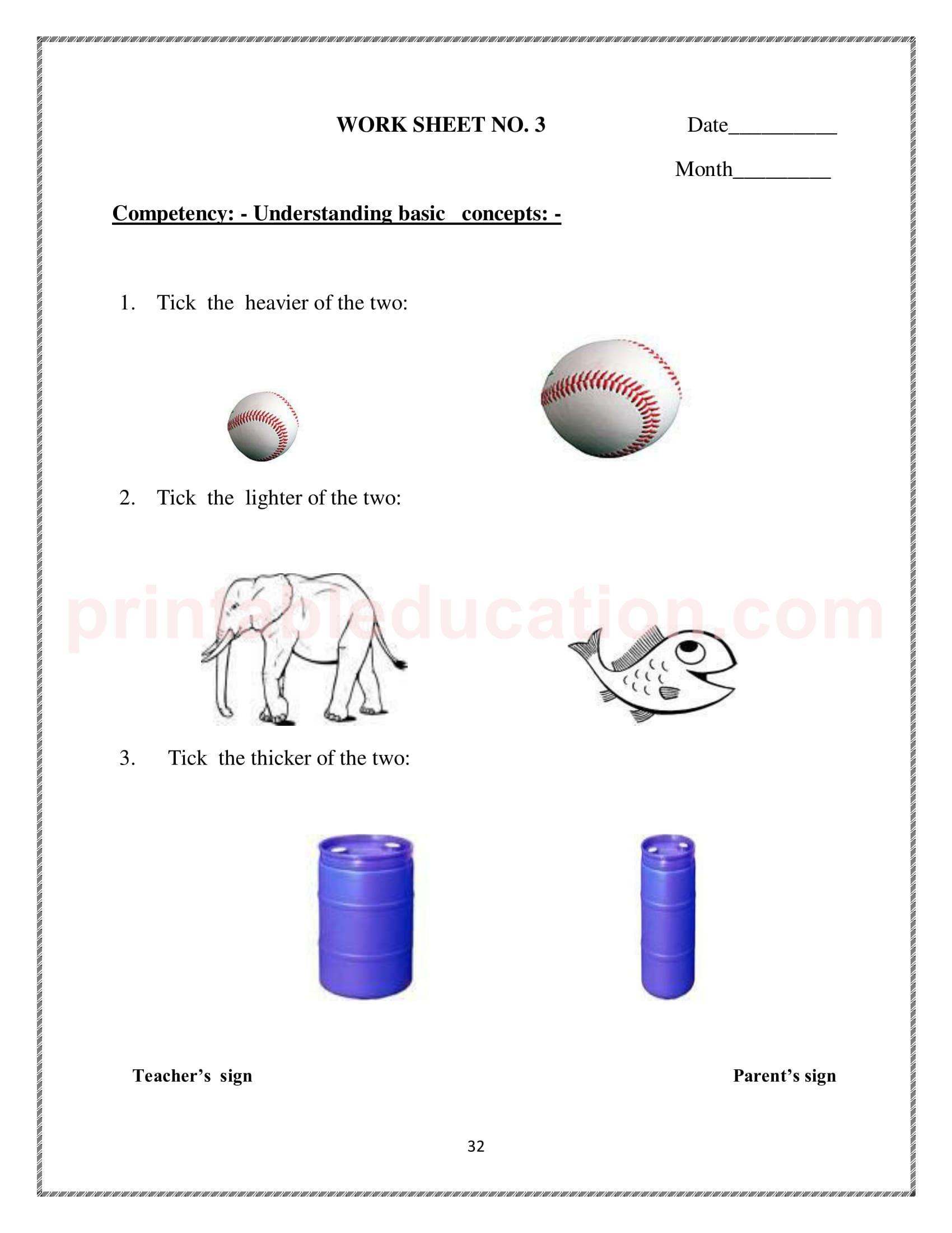 Grade One Mathematics Worksheet For Kids
