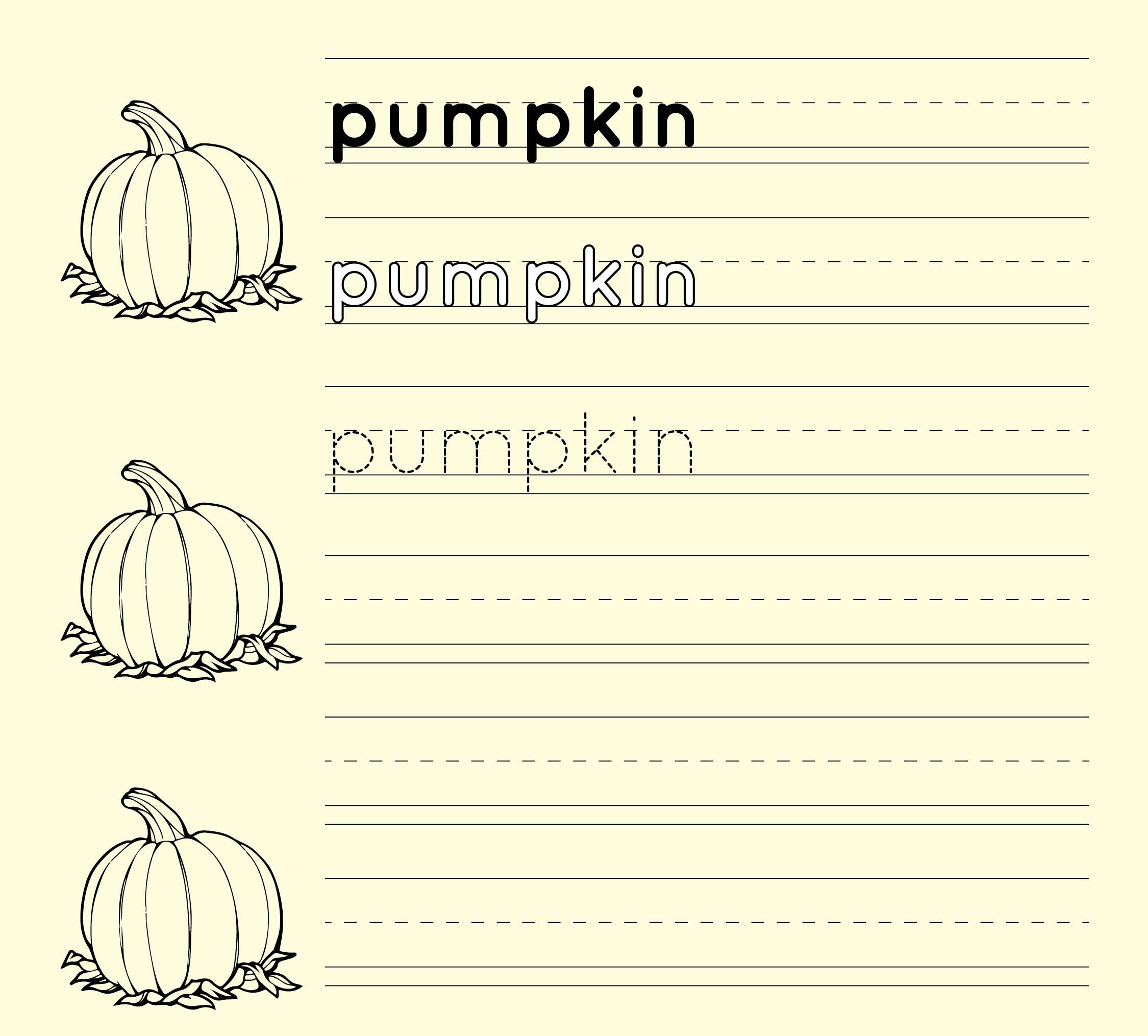 6 Best Worksheets Halloween Handwriting Printables