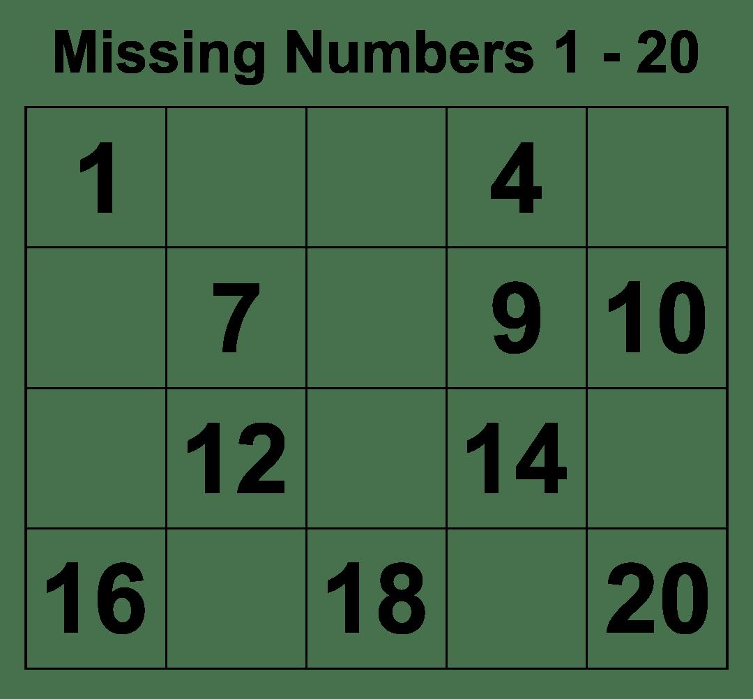 5 Best Writing Numbers 1 20 Printables