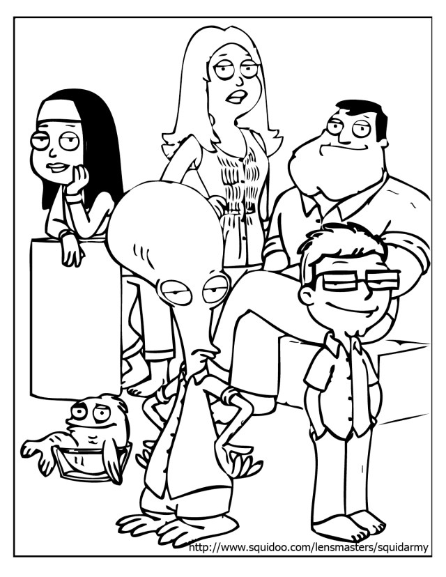 American Dad! #21 (Cartoons) – Printable coloring pages