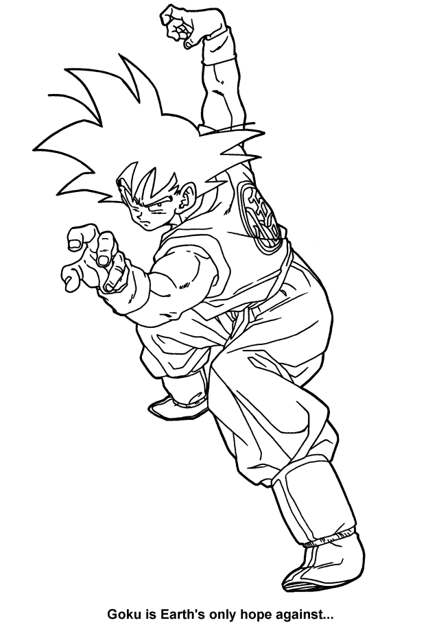Drawing Dragon Ball Z #28 (Cartoons) – Printable coloring pages