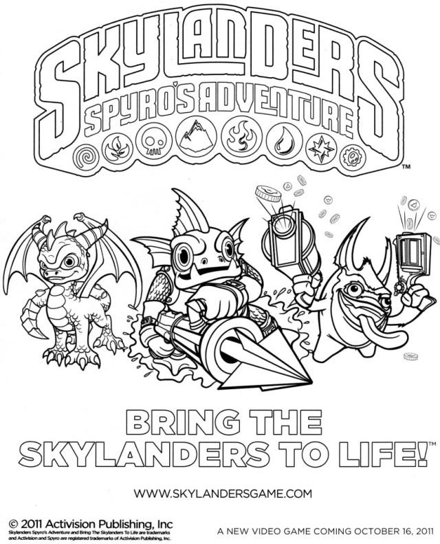 Drawing Skylanders #21 (Cartoons) – Printable coloring pages