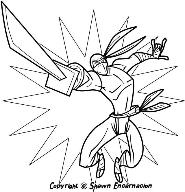 Drawing Ninja #21 (Characters) – Printable coloring pages