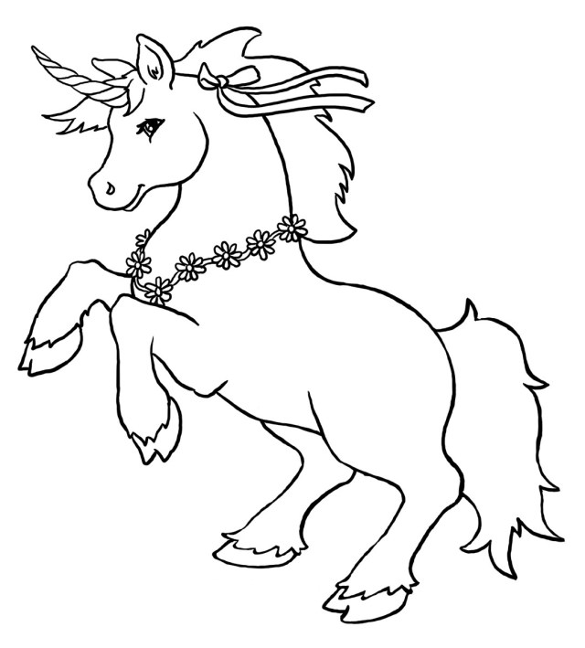 Unicorn #25 (Characters) – Printable coloring pages