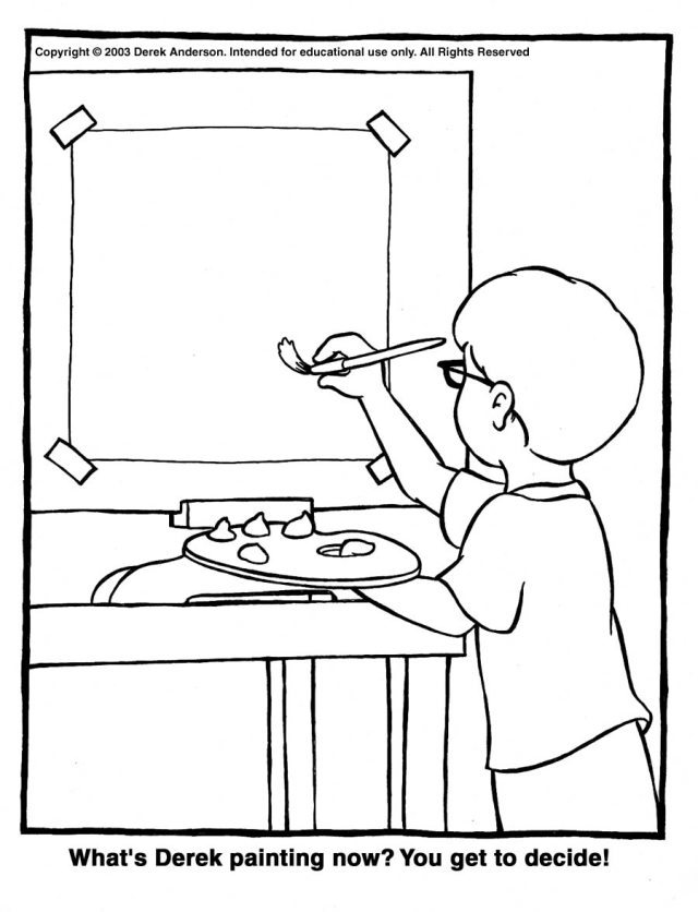 Drawing Painter #30 (Jobs) – Printable coloring pages