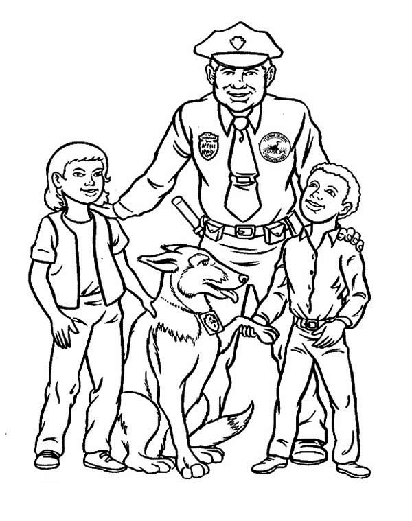 Police Officer 105411 Jobs Printable Coloring Pages