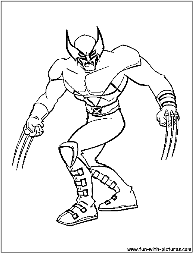 Drawing X-Men #6 (Superheroes) – Printable coloring pages