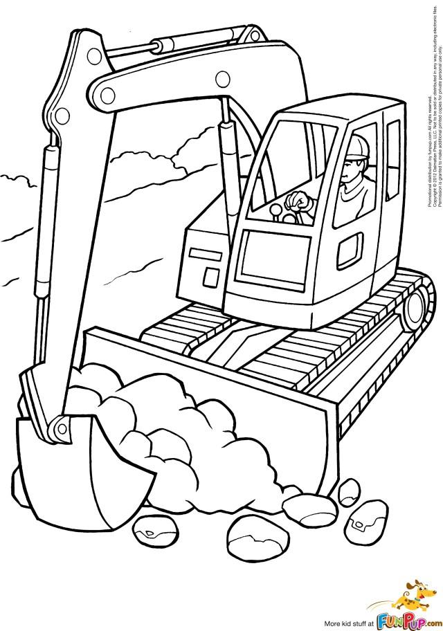 Drawing Bulldozer / Mecanic Shovel #30 (Transportation