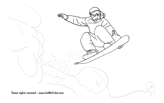 Snowboard #12 (Transportation) – Printable coloring pages