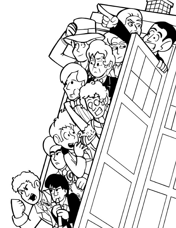 Doctor Who 153114 Tv Shows Printable Coloring Pages