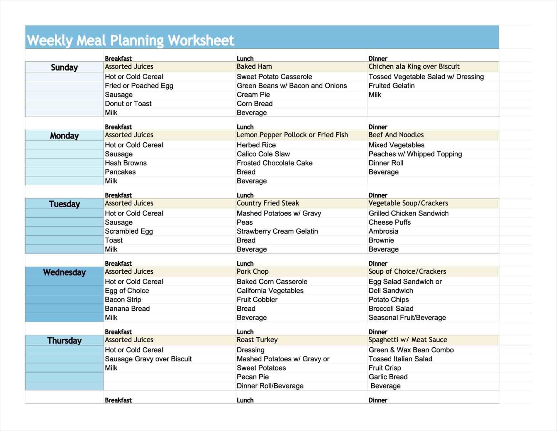 Printable Diabetic Food Chart Printable Calendar
