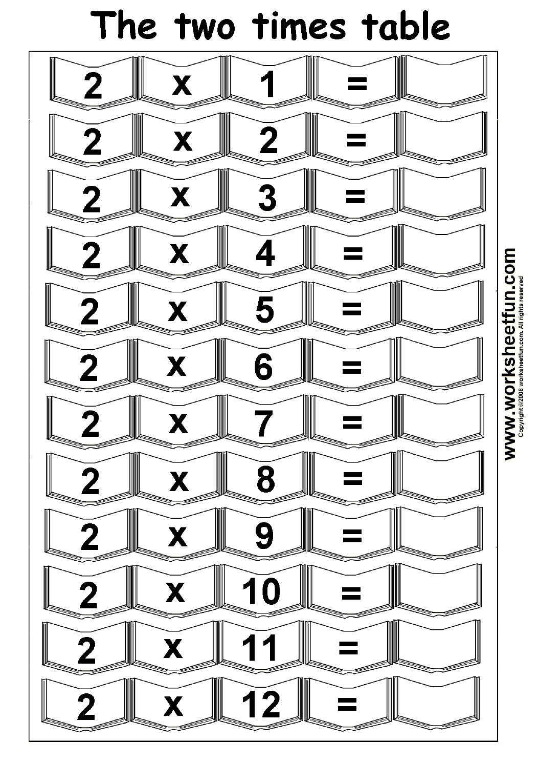 Blank Multiplication Times Tables Worksheets