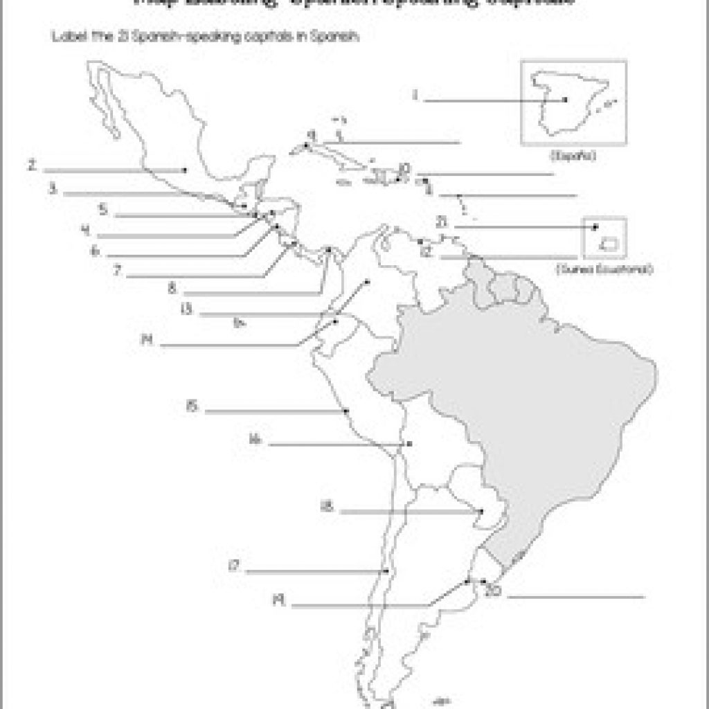 Printable Map Of Spanish Speaking Countries