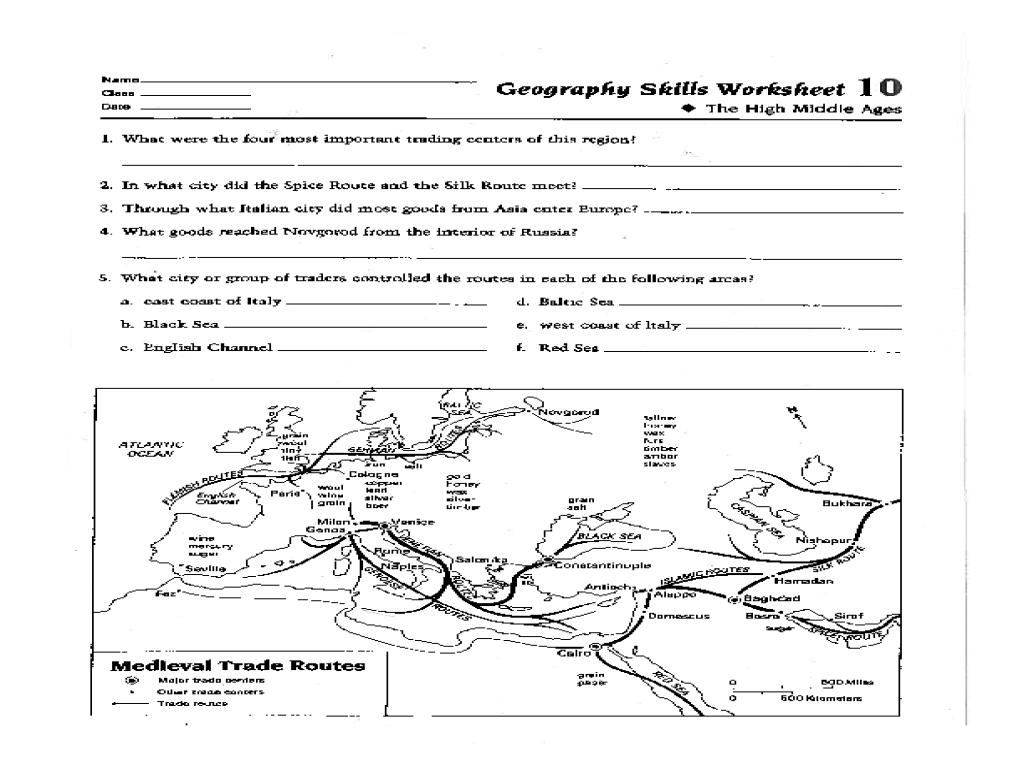 Map Skills Quiz Printable