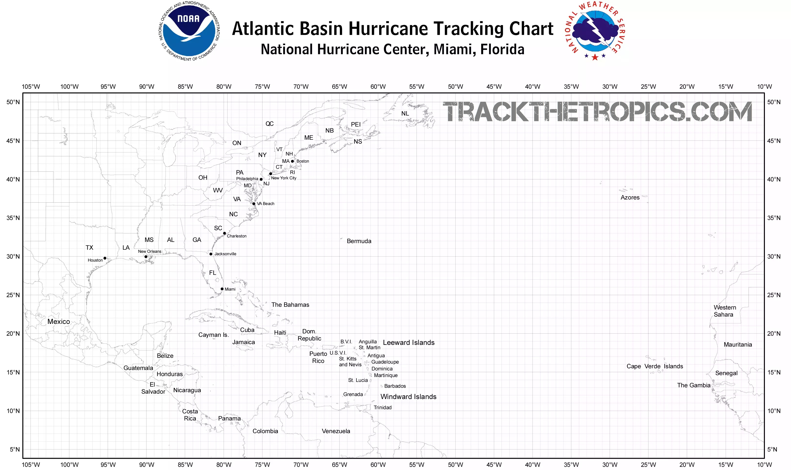 The Best Printable Hurricane Tracking Map