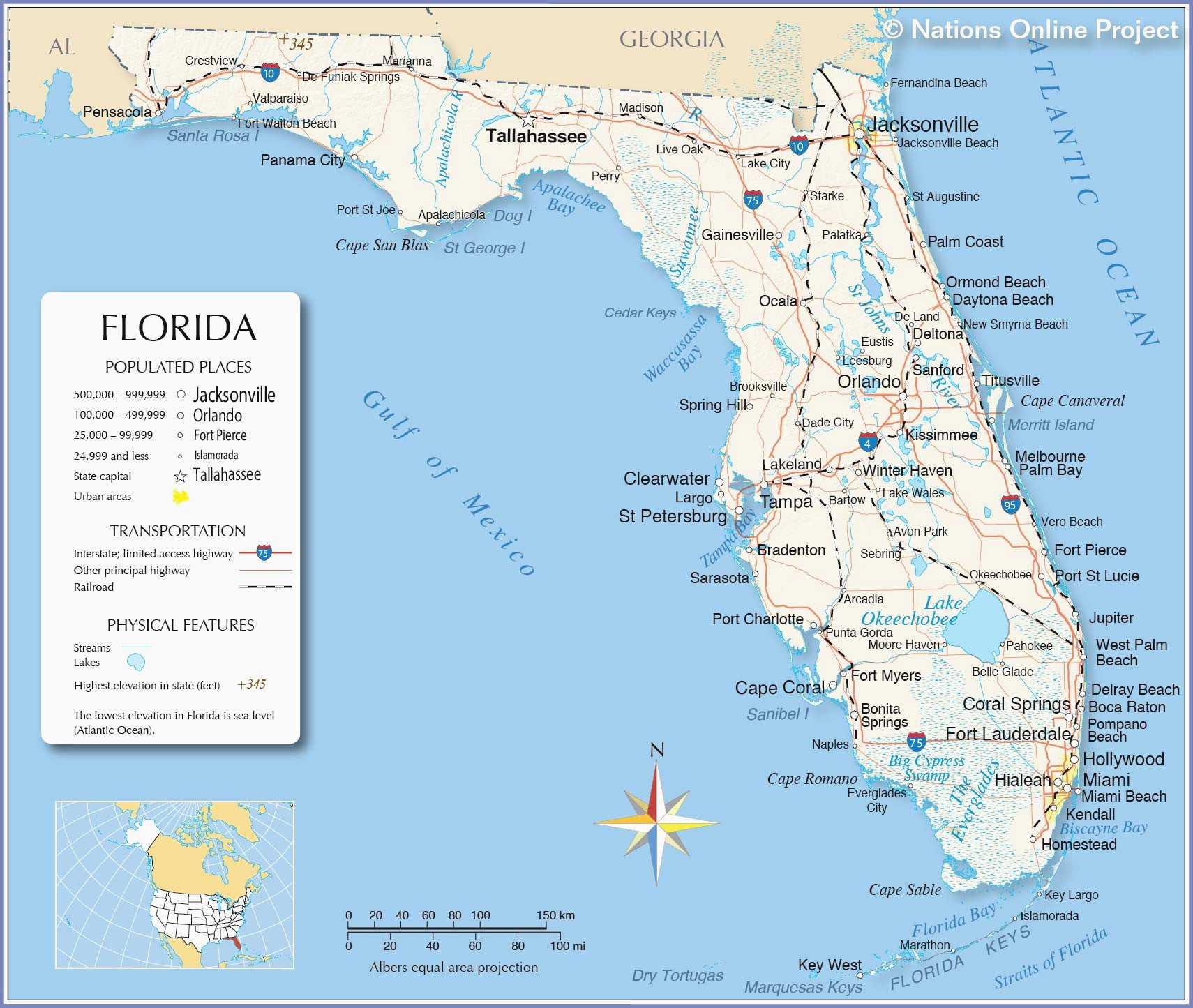 Map Of Florida East Coast Beach Towns