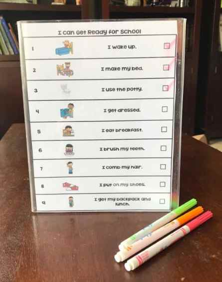 Morning Routine without Meltdowns - free printable - Printable Parents