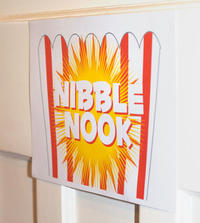 This is an image of a Nibble Nook Sign.