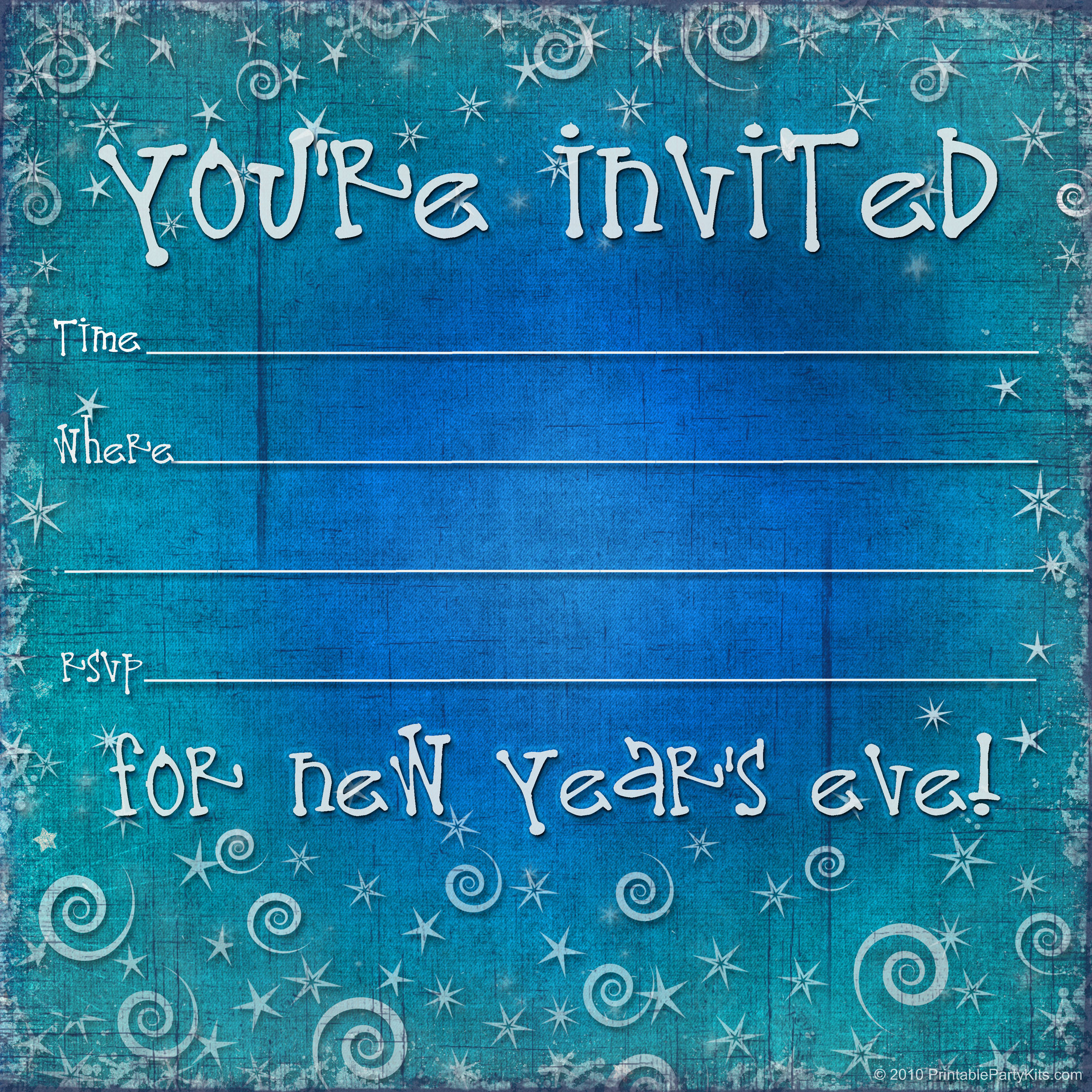 New Year Eve Party Invitations Template – Merry Christmas And Happy ...