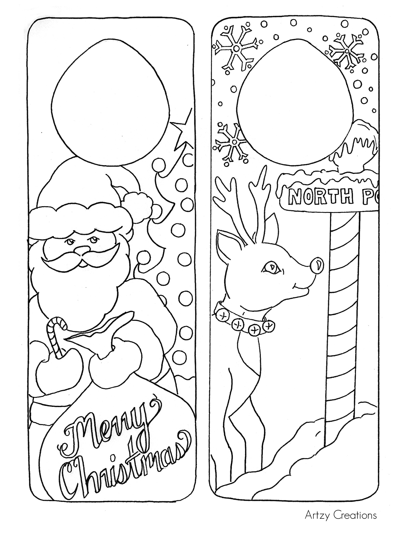 Door Hanger Printables For Christmas