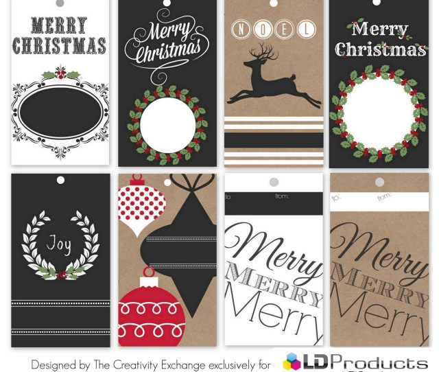 Free Download Print Large Christmas Tags Printable