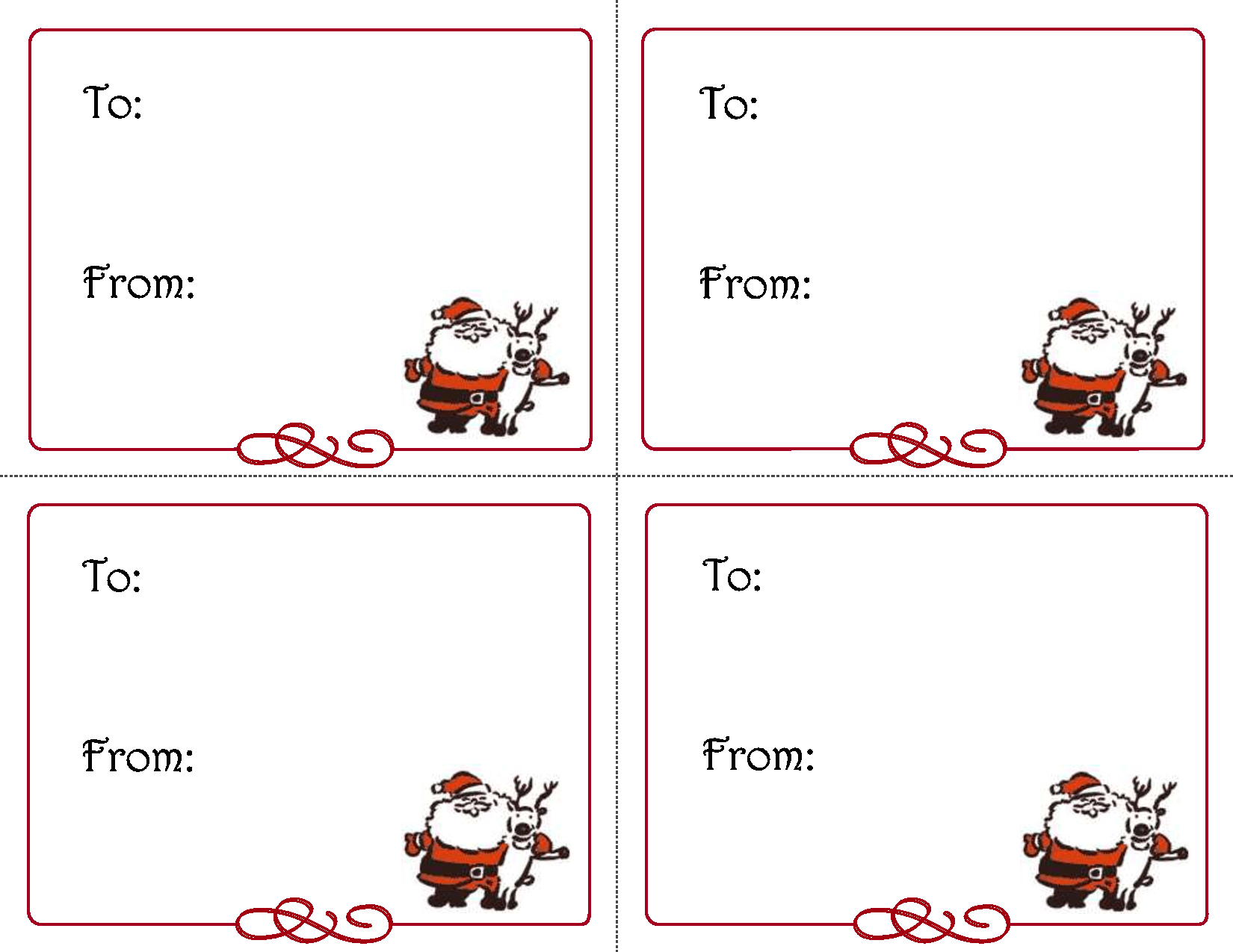 Merry Christmas T Card Printable