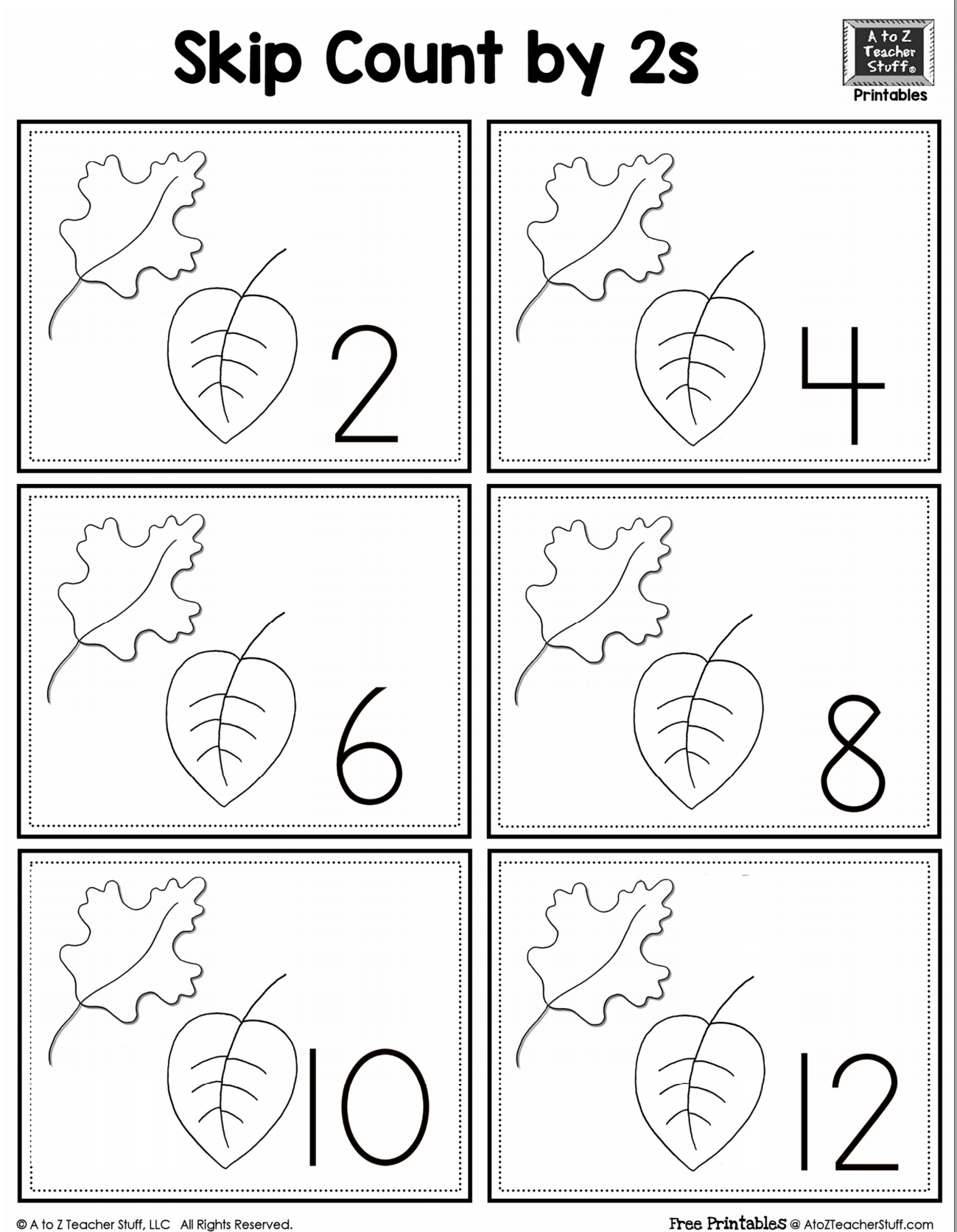 Skip Counting Worksheet 2 5 And 10