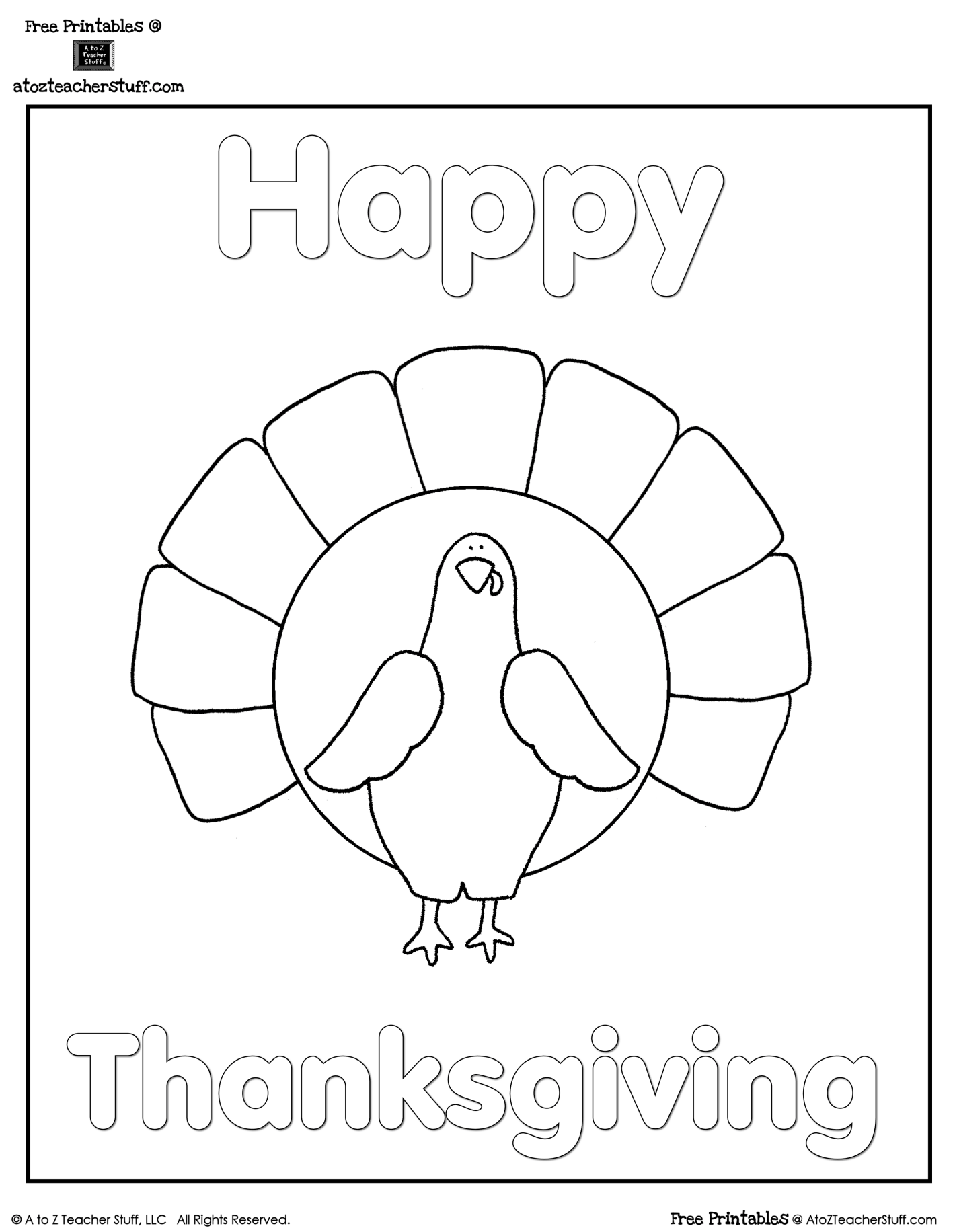 Engaging Lessons And Activities Free Thanksgiving Turkey
