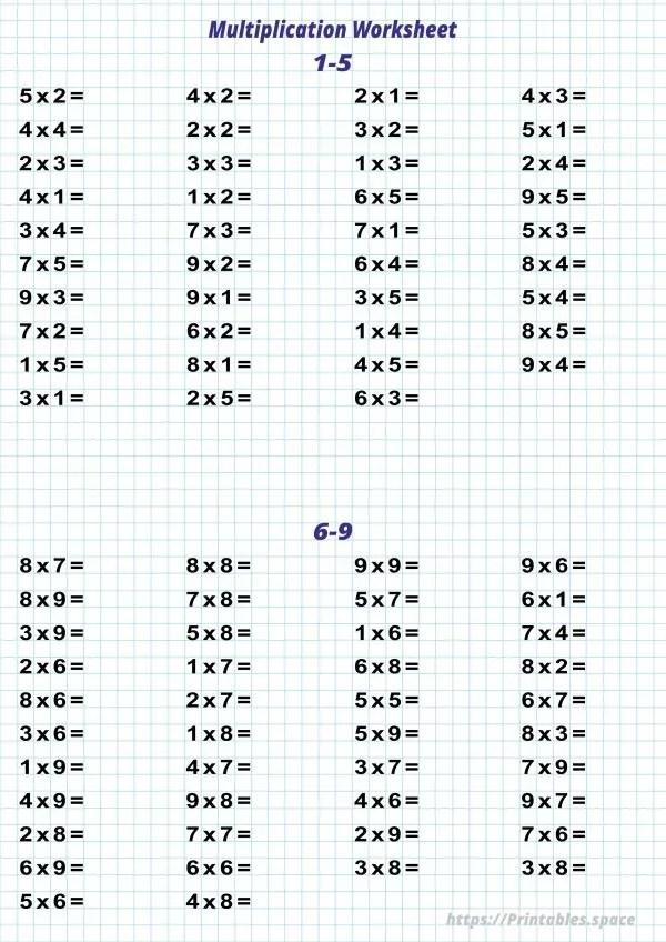 Multiplication Worksheets Free Printables