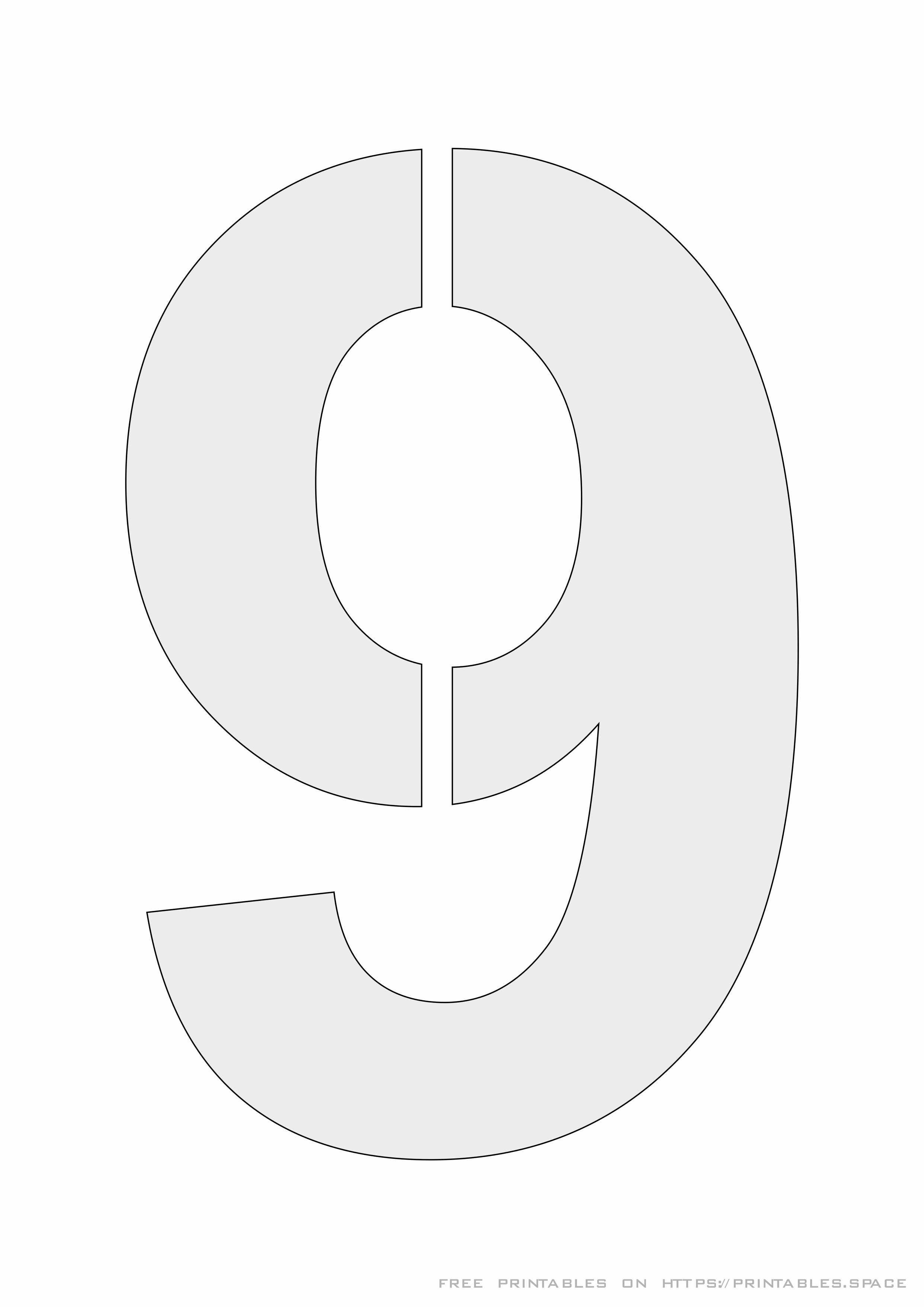 Printable Number 9 That Are Nerdy