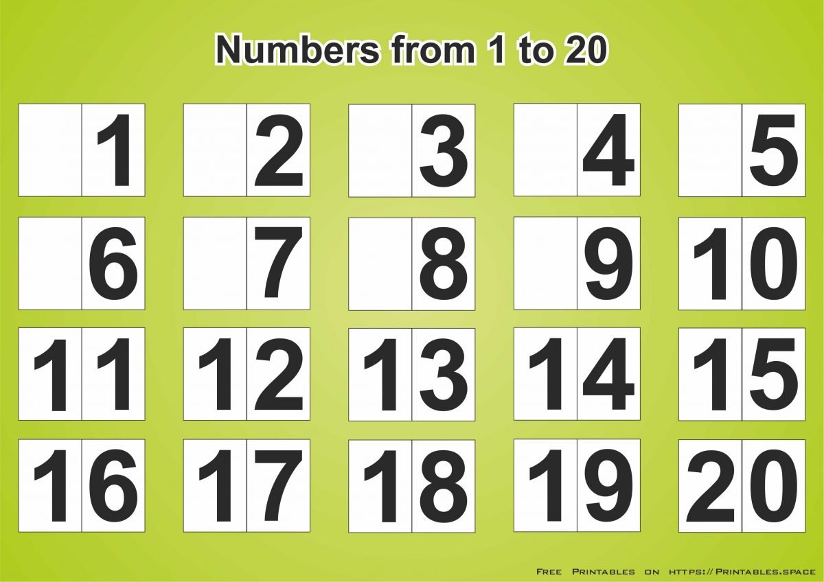 Gutsy Numbers 1 20 Printable