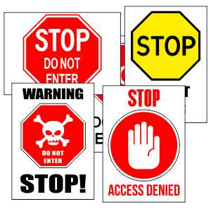 Printable Stop Signs Free Printables