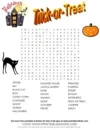 printable halloween word search free