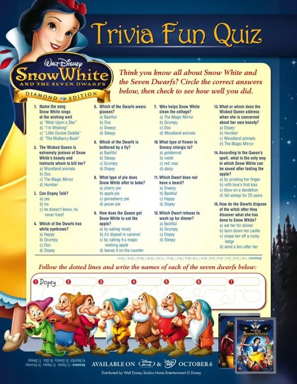 snow-white-trivia-quiz : Printables for Kids – free word ...