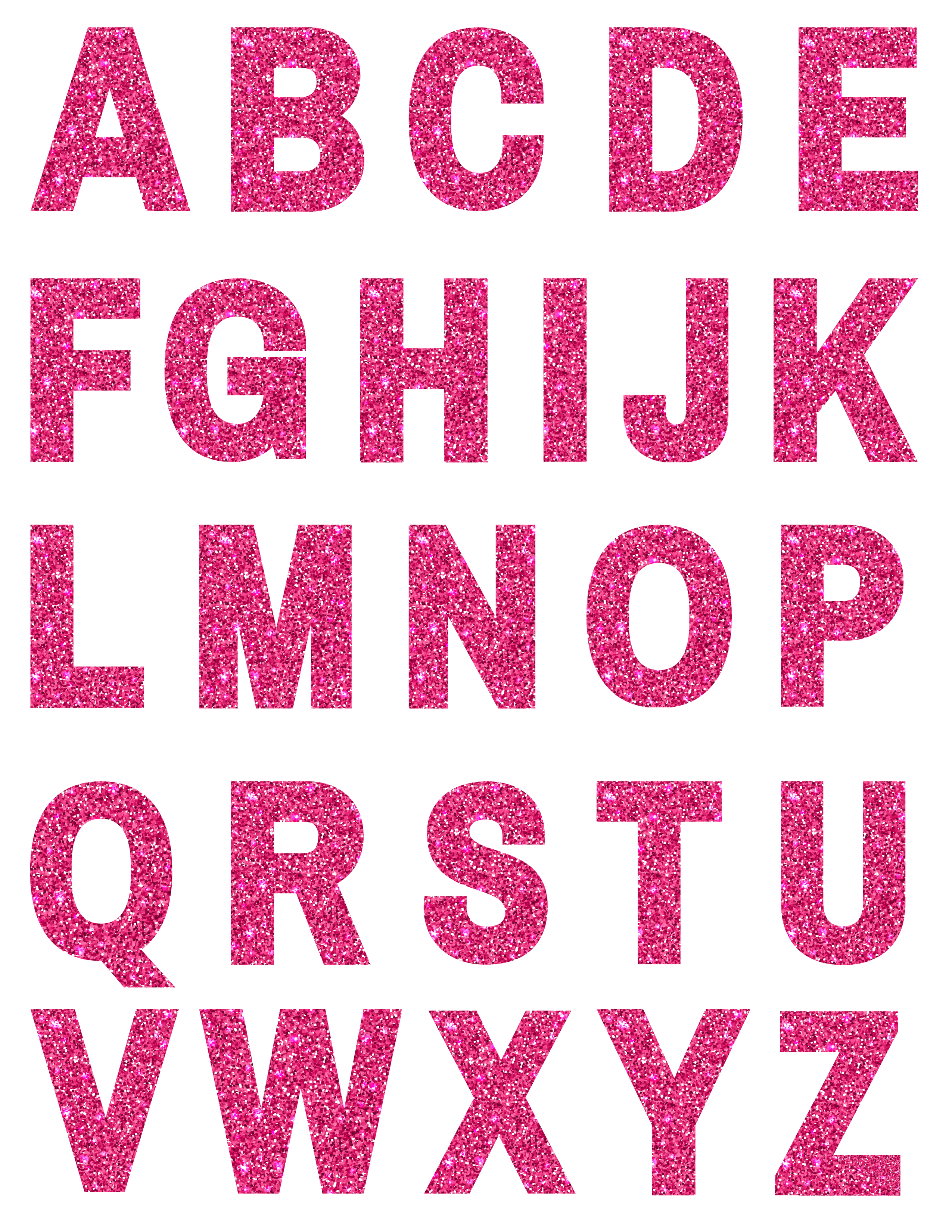 COLORFUL GLITTER LETTERS - Printables and Inspirations