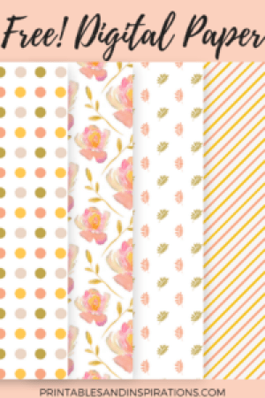 Free Digital Scrapbook Floral Paper Pack And Elements From Printables And Inspirations Grannyenchanted Com