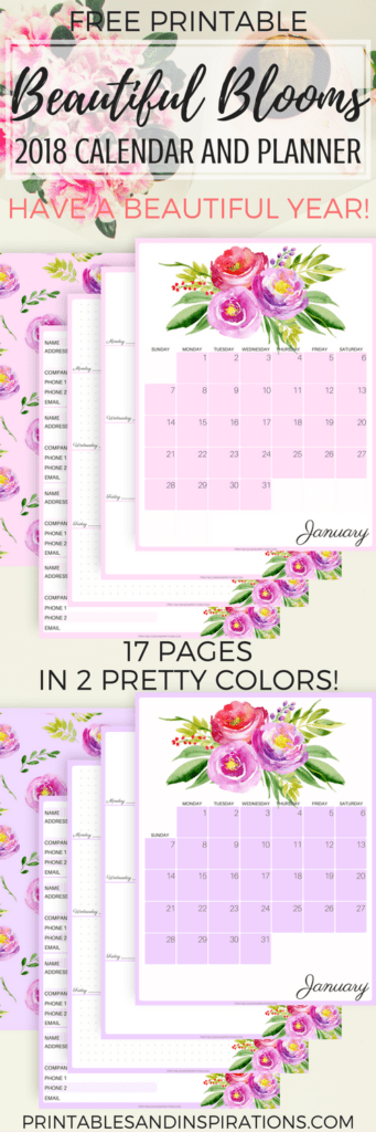 Printable Address Book Cover : Free floral calendar for beautiful blooms a