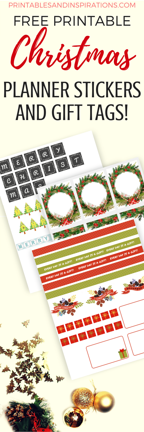 Free christmas planner stickers and gift tags printables and free printable christmas planner stickers planner printables christmas gift tags negle Gallery