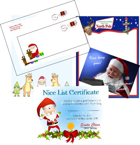 santa nice list certificate to print